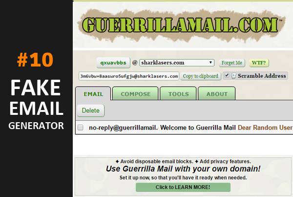 10 Best Fake Email Address Generators Online - My Blogging Plus
